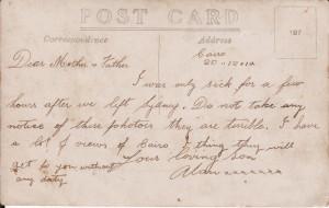 HUGHES, Alexander (Postcard Sent)