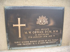 Michael William Cowan gravestone