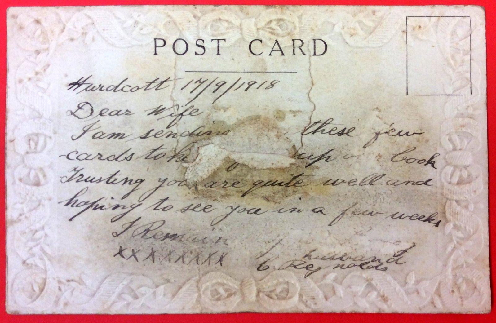 Ww1 Embroidered Silk Postcards Leichhardt 5000